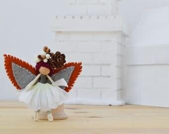 Miniature Fairy Doll - miniature fairies, waldorf fairy doll, waldorf fairies, mini fairy doll, mini fairies, OOAK fairy doll