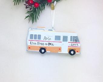RV Camper Personalized Christmas Ornament / Camper Ornament / Travel Ornament / Road Trip / Personalized Ornament