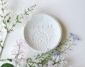 Ring Dish Lace Anniversary Gift Couple - Personalized Gifts for Women - Ring Holder Wedding Anniversary Gift for Parents - 13th Anniversary