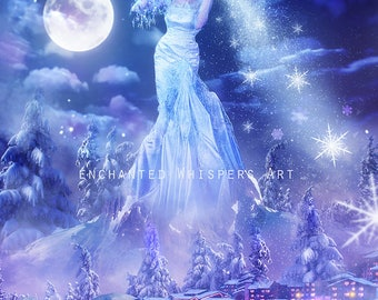 Winter fantasy art print