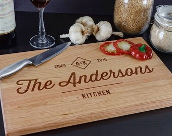 Custom Cutting Board, Personalized Cutting Board, Wedding Gifts for The Couple, Housewarming Gift, Engraved Wood Cutting Board