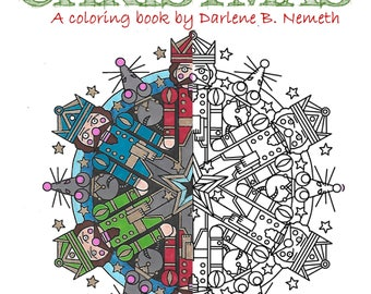 My Mandala Christmas Coloring Book Adult Page Nut Cracker Instant