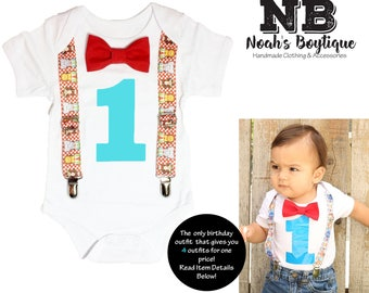 Circus Birthday Outfit - Boys First Birthday - Circus Animal - First Birthday Circus Shirt - Circus Theme Party - Carnival - 1st Birthday