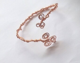 Copper Wire Wrapped Bracelet, Copper Wire Bracelet, Copper Bracelet, Wire Bracelet, Wire Wrapped Bracelet