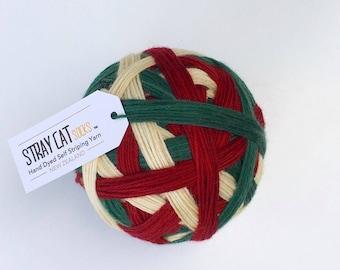 JOYEUX NOËL - vibrant hand dyed self striping sock yarn