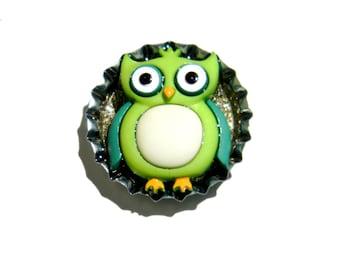 NEW Bottle Cap Magnet - Owl - Single Magnet