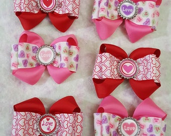Valentines Day Hair Bows