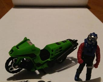 Kenner Mask Condor Motorcycle w/ Bombs inc Brad Turner Action Figure motorcycle transforms into helicopter action mode