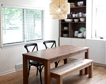 Parsons Dining Table, Table and Bench or Pair of Matching Benches