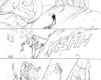 Prophet Earth War, Page 7 Original Artwork