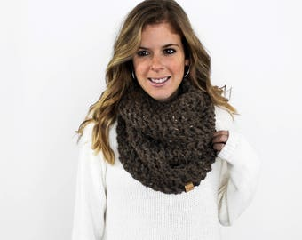 Knitted Scarf Cowl Chunky Scarves Knit Barley- Calvert Cowl