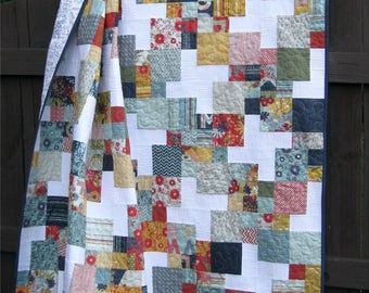 Digital pdf Quilt Pattern - Peanut Butter Pinwheels - Baby, Lap, and Twin Sizes - Charm Pack and Layer Cake Friendly