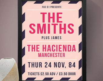 The Smiths - The Hacienda Manchester Gig Poster, Concert Poster, Music Print