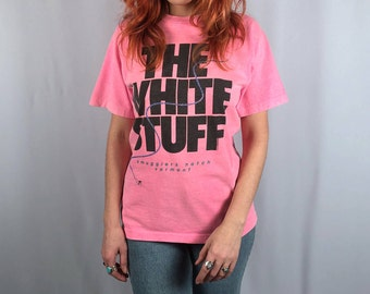 Vintage THE WHITE STUFF Pink Ski Tee Size Medium