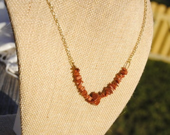 Goldstone Strand Necklace