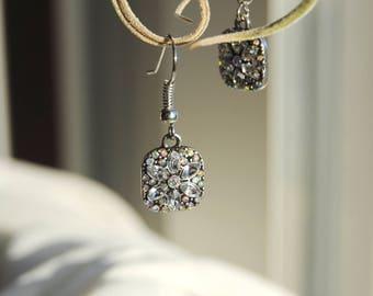 Sparkling Flower Burst Earrings, Simple