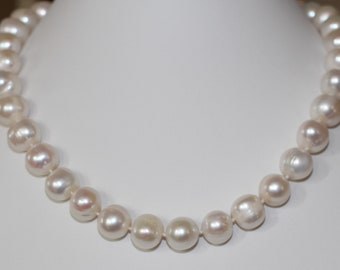 12-13 mm Australian South Sea White Pearl Necklace Princess