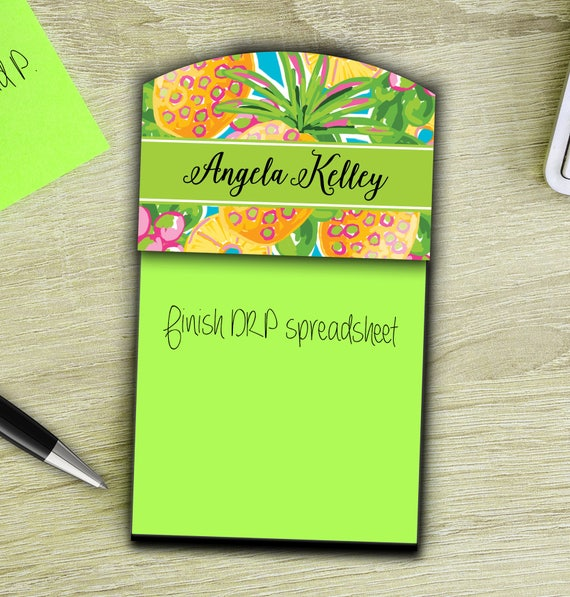 Desk Accessories Gifts Personalized Sticky Note Holder Gifts for Coworkers Monogram Office Accessories Coworkers Gifts for Employees