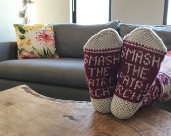 Smash the Patriarchy Sock Pattern