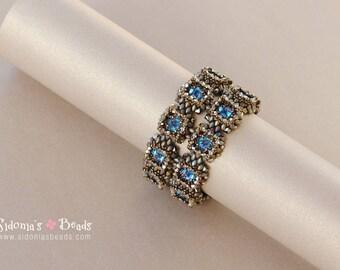 Superduo Bracelet Tutorial - Beaded Bracelet - Superduo Pattern - Swarovski Bracelet - Digital Download