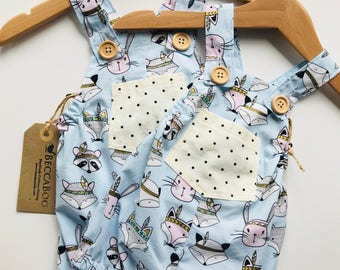 Fox & Bunny - Overalls Shorts