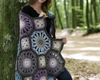 Wool Alpaca Handmade Afghan, Boho Crochet Blanket, Multi Color Soft Chunky Blanket, Wedding handmade Gift, Handmade Blanket Colorful Afghan