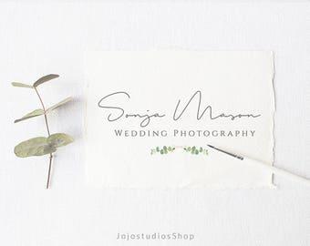 Wedding Logo Design, Business Logo, Feminine Logo, Premade Photography Logo, Feminine Logo, Wedding Watermark, Calligraphy Logo, L139