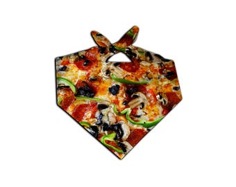 Supreme Pizza Bandana | Everything Pizza | Cheese | Rave Clothes | Festival Food | 420 Munchies | Buy 5 Get 1 FREE