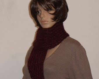 Thick soft red scarf