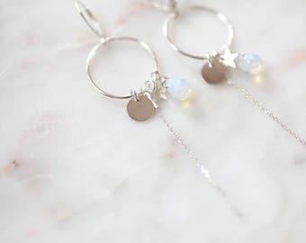 Earrings 925 sterling silver circles
