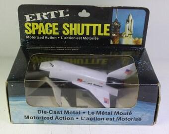 Vintage NOS 1980's  Ertl Motorized 1/288 scale model NASA Space shuttle