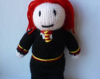 Ginny Weasley (Harry Potter) knitted doll