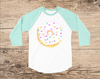 Donut Toddler Shirt, Frosted Donut with Sprinkles