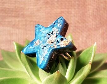 Black Tourmaline Orgone Ring – Star - Energy Balancing and EMF Protection - Root Chakra Balancing - Spiritual Gift