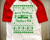 """New """"Merry Christmas Shitter's Full"""" Unisex Toddler Half Sleeved T-Shirts for Christmas Party, Thanksgiving Family Party, Vacation Movie Fan"""