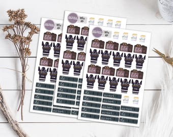 Vlogger Film Edit Planner Stickers ECLP Happy Planner KikkiK Filofax