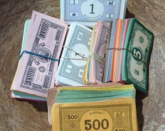 Vintage Monopoly Game Money Play Money Game Piece Supply Lot (#1286)
