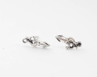 Squid Studs, Squid Earrings, Squid Stud Earrings, Silver Squid Earrings