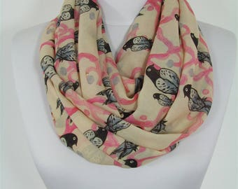 Valentines Gift For Her Bird Scarf Infinity Scarf Animal Scarf Bird Print Circle Scarf Spring Fall Winter Scarf Women Fashion Accessories 18