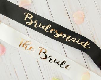 Custom bride / bridesmaid Sash