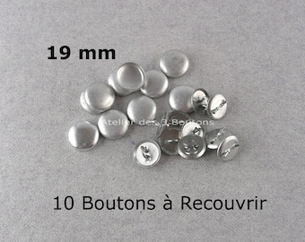 """10 Cover Buttons 3/4"""" (Size 30)"""