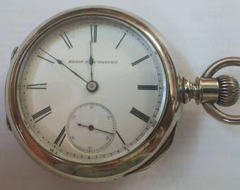 1886 Elgin pocket watch, size 18