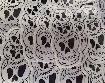 Skulls stack of skulls vinyl sticker