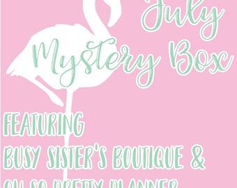 NO COUPON CODES // July Mystery Box - Flamingo Themed