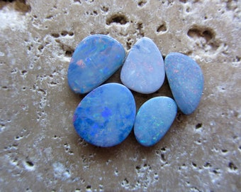 Natural Opal Doublets 5 stone cabochons