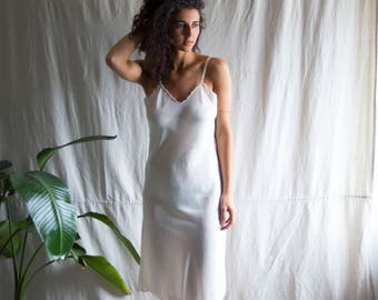 Soft Chassis Silken Slip Gown by i. Magnin