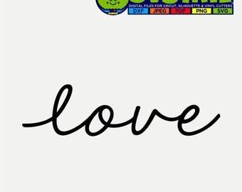 Love SVG   I Love You SVG   Love Decor   Love Design   Love Clip Art   Cricut Files   Silhouette Files   Scan n Cut Files   Words svg