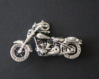 Motorcycle-3D-Zipper Pull-(ONE PULL) OR Charm Only