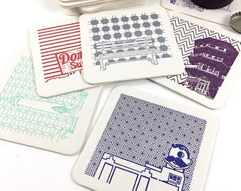 Baltimore Coasters | Letterpress Printed Pack of 5 Coasters