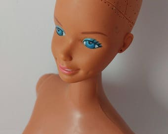 Supersize Barbie Superstar Fashion Doll Grow Hair 1976 - TLC Bait For Customizing - Poor Condition